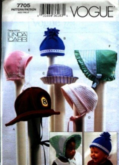 V7705 Vogue Baby Bonnets Designed By LINDA CARR