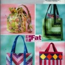 BP175 Butterick Pattern FAT QUARTERS Handbags