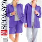 B4330 Butterick Pattern EASY Jacket, Top, Shorts, Pants PETITE Misses Size 14 - 16 - 18