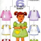 B4379 Butterick Pattern 6 Sew Easy Pinafore and Dress Toddler Size 1-2-3-4