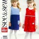 B4575 Butterick Pattern SEE & SEW Jumper Girl Size 2, 3, 4, 5