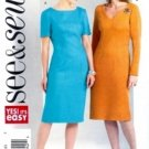 B4576 Butterick Pattern SEE & SEW Dress Miss Size 20-22-24