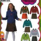 S4972 Simplicity LIZZIE McGUIRE Skirts and Knit Top Girls PLUS Size BB 8 1/2- 16 1/2