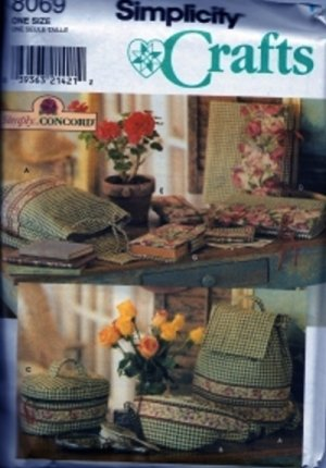 S8069 Simplicity Pattern Bags and Covers by SIMPLY CONCORD