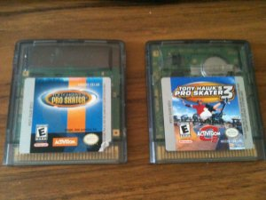 Two (2) Tony Hawk's Pro Skater game for Nintendo Game Boy Color