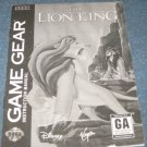 The Lion King - Instruction Booklet (Sega Game Gear)