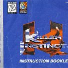Killer Instinct - Instruction Booklet (Nintendo Game Boy, 1995)
