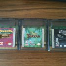 Three (3) Game Boy Color games - Wild Thornberrys, Tarzan, Planet of the Apes