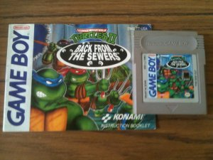 Teenage Mutant Ninja Turtles II - Back From The Sewers w/ Manual (Nintendo Game Boy, 1991)