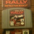 Top Gear Rally w/ Instruction Booklet (Nintendo 64, 1997)