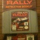 Top Gear Rally w/ Instruction Booklet (Nintendo 64, 1997)