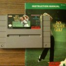 Jack Nicklaus Golf w/ Instruction Manual (Super Nintendo Entertainment System, 1990)