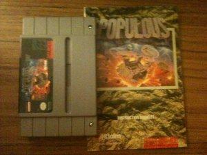 Populous w/ Instruction Booklet (Super Nintendo, 1991)
