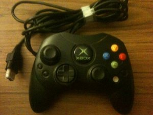 FOR PARTS/REPAIR - Black S Type Controller (Microsoft Xbox, 2003)