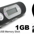 1GB Built-in FM MP3 Player (Classic) - Black