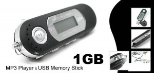 1GB Built-in FM MP3 Player (Classic) - Black