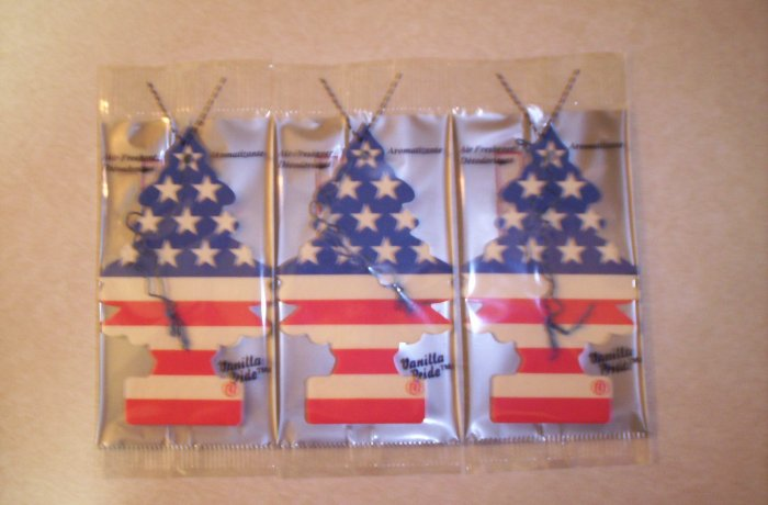 Vanilla Pride  Tree Air Freshener -Lot of 72-