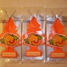 Peachy Peach  Tree Air Freshener - Lot of 3 -