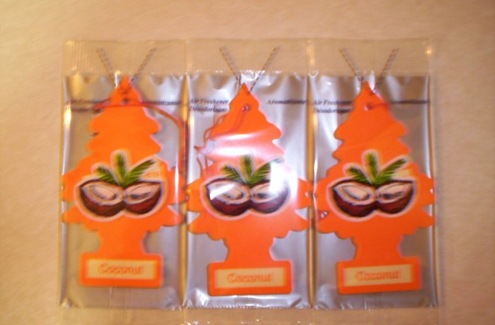 Coconut  Tree Air Freshener - Lot of 72 -