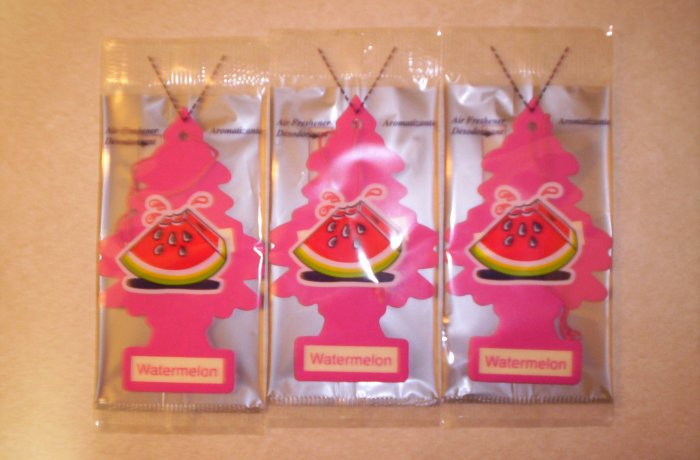 Watermelon  Tree Air Freshener - Lot of 3 -