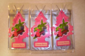 CinnaBerry  Tree Air Freshener - Lot of 3 -