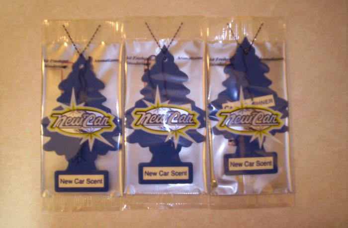 New Car Scent  Tree Air Freshener - Lot of 3 -