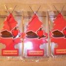 Cinnamon Apple Tree Air Freshener - Lot of 3 -