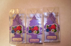 Berry Patch Tree Air Freshener - Lot of 3 -