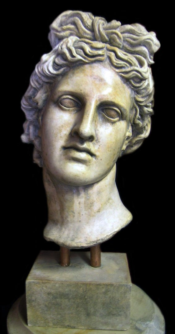 Apollo Belvedere Greek Hellenistic large bust sculpture