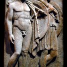 Greek Hoplites Chairedemos and Lyceas Grave Stele sculpture