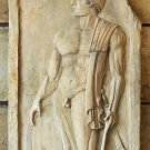 Ancient Macedonian Soldier Grave Stele sculpture