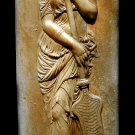 Greek goddess Muse plaque sculpture