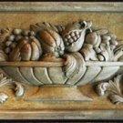 Renaissance Fruit plaque long sculpture
