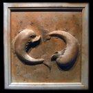 Pisces Zodiac plaque (Feb 19 - Mar 20) sculpture plaque