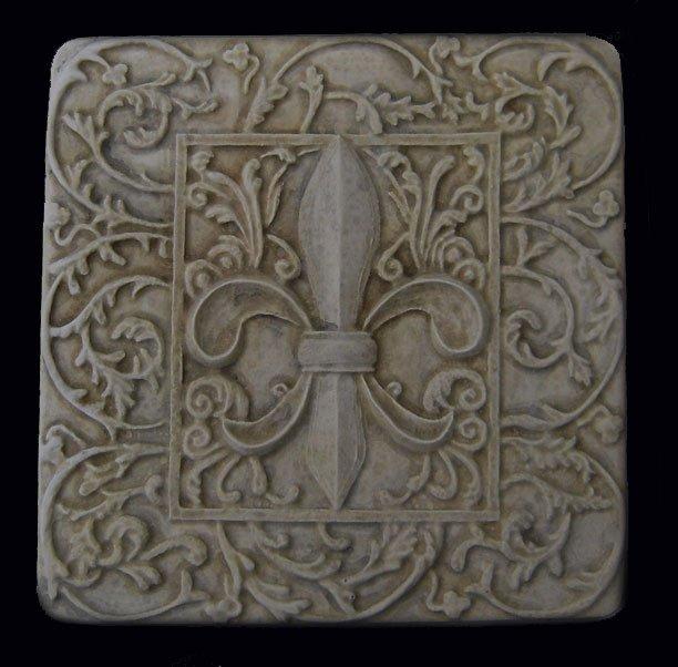 fleur de lis decorative backsplash tile