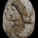 Ptolemy II and Arsinoe Hellenistic King and Queen of Egypt Relief plaque sculpture