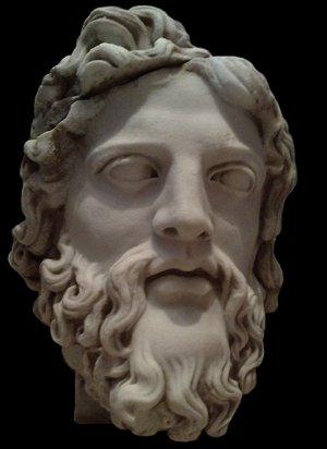 Marble Head of Zeus from Epheus sculpture