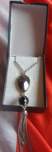 Silver Drop Dress Necklace