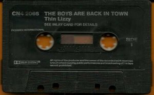 Thin Lizzy:  The Boys Are Back In Town  (Cassette)