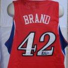 Elton Brand signed Philadelphia 76ers Jersey NBA XL