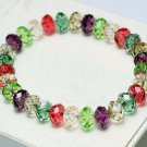 Wholesale 24 pcs/lot Mixed Fashion Unisex Crystal Handmade Stretch Colorful Bracelet (B) 8mm Beads