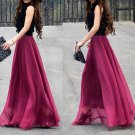 Red New Arrival Women Ladies Swing Expansion Skirts Bottom Beach Maxi Long Full Wholesale