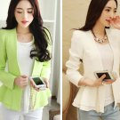 White M Fashion Women Ladies Girls Casual Short Blazer Outwear Long Sleeve Spring Autumn