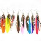 Wholesale 12 Pairs/lot Mixed Fashion Women Girls Peacock Hook Earrings Dangle Boho