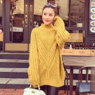 Yellow Women Girls Casual Pullover Sweater Knitwear Loose Baggy