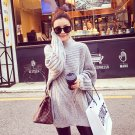 Grey Women Girls Casual Pullover Sweater Knitwear Loose Baggy