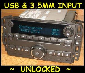 UNLOCKED 2010-2011 Chevy SILVERADO GMC SIERRA CD Radio Ipod USB input & 3.5 MP3