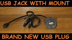 Chevy Silverado Tahoe DASH MOUNT USB input 5' Harness/Cable for Radio/Navigation