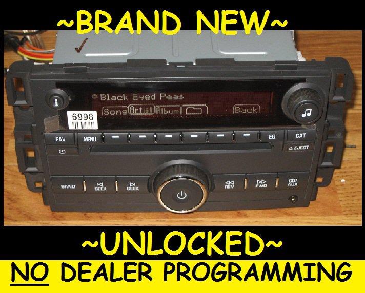 New Unlocked Oem 2007 09 Pontiac Saturn Cd Radio 3 5mm Aux Ipod Input Mp3