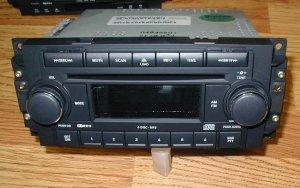 2006-09 DODGE RAM MP3 RADIO 6 DISC CD CHANGER CHRYSLER